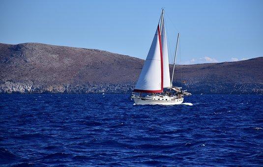 Yacht, Sea, Sailing, Crete, Greece, Cruise, Sailboat