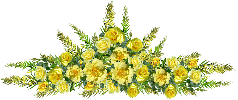 Flowers, Yellow, Roses, Arrangement, Decoration