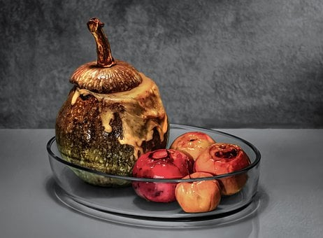 Pumpkin, Apples, Food, Still Life