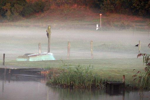 Morning Mist, Fog, Baabe, Landscape, Mood