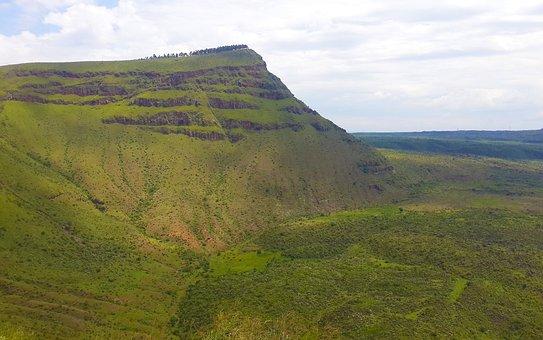 Nakuru, Kenya, Menengai, Crater, Bahati, Africa, Nature