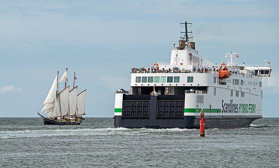 Baltic Sea, Tall Ship, Ferry, Scandinavia, Hybrid Ferry