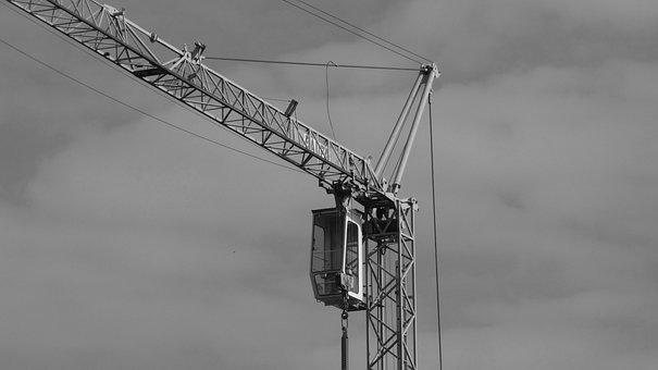Crane, Industry, Construction, Metal, Work, Build