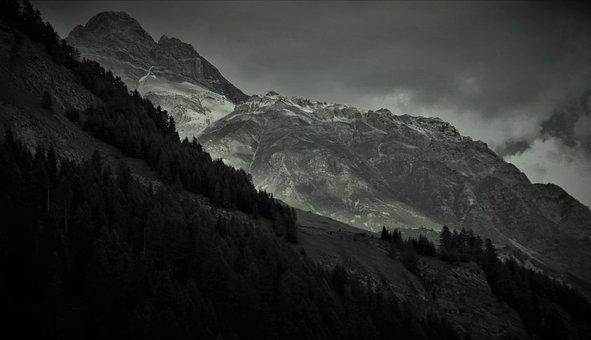 Dreary, Storm, Mountains, Drama, Mood, Twilight, Www