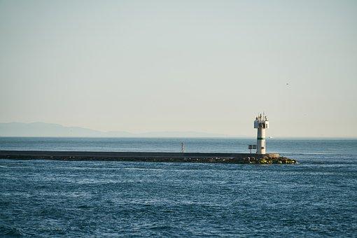 Lighthouse, Marine, Msn Letters, Horizon, Beautiful