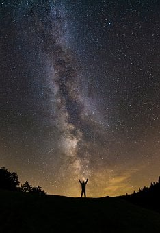 Milky Way, Human, Starry Sky, Star, Night Sky, Galaxy