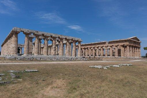 Basilica And Temple Of Neptune, Paestum, Temples