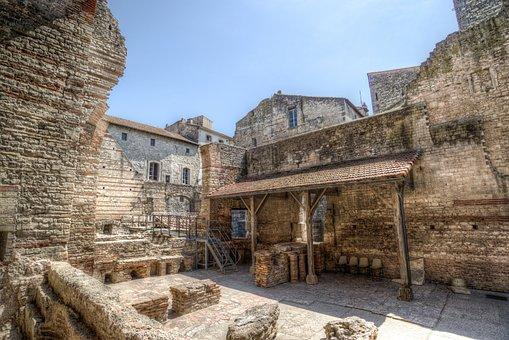 Roman, Bath, Arles, Historic, Ancient, Archaeology