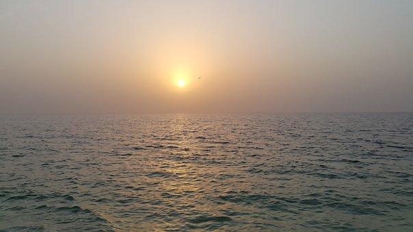 Beach, Sunset, Ocean, Sea, Summer, Sunrise, Water, Sky