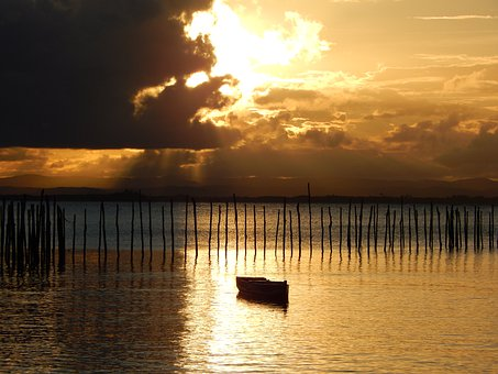 Sunset, Beach, Ocean, Sea, Summer, Sunrise, Water, Sky