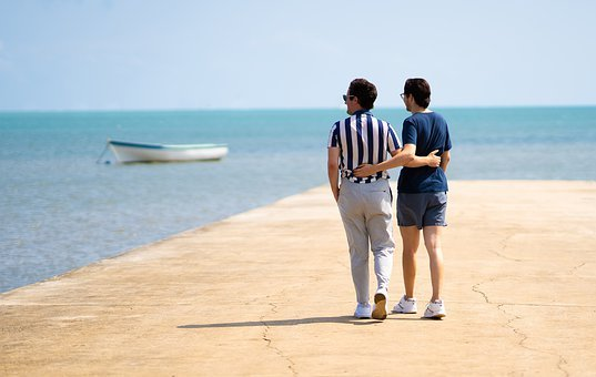Vacations, Water, Summer, Sea, Sun, Sky, Ocean, Pair