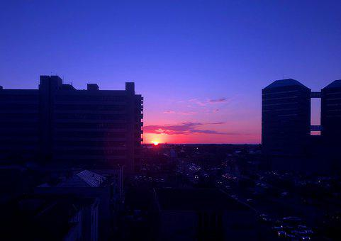 Sunset, Twilight, Shadow, Landscape, Water, Sky, Joy