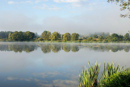 The Fog, Water, Landscape, Nature, Clouds, Morning
