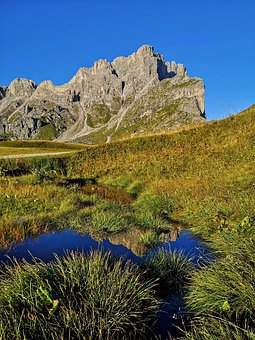 Mountain, Tops, Dolomites, Nature, Sky, Landscape