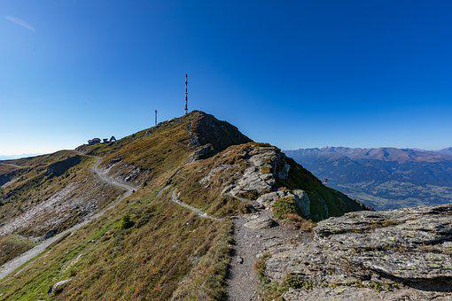 Goldeck, Mountains, Summit, Sky, Weather, 2142m