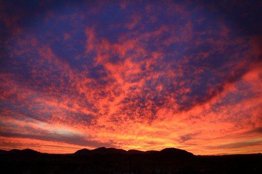Desert Monsoon, Sunset, Arizona, Monsoon, Desert, Storm