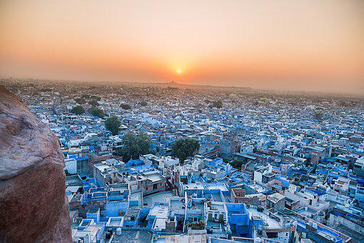 Blue, Architecture, Asia, Travel, Rajasthan