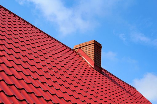 The Roof Of The, Tile, Chimney, Sky