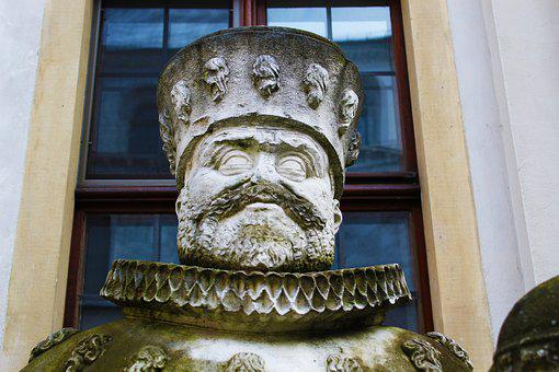 Neuburg A, D, Danube, Castle, Bavaria, Sculpture