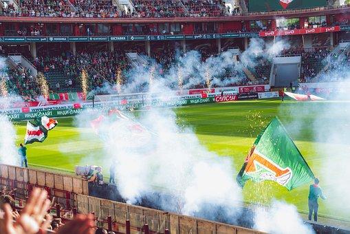 Flag, Locomotive, Football, Soccer, Game