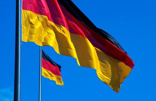 Germany, Flag, Black Red Gold, Flutter