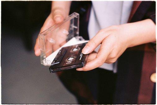Flower, Hand, Hands, Cassette Tape, Vintage
