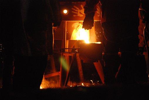 Iron, Furnace, Molten, Heat, Glowing