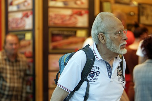 Man, Person, Male, Adult, Old, Beard, White, Backpack