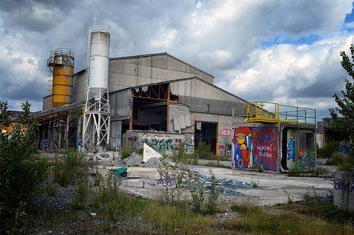 Disused, Factory, Old, Abandoned, Mechanics, Machine