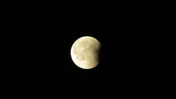 Luna Eclipse, Eclipse, Luna, Moon, Night, Space