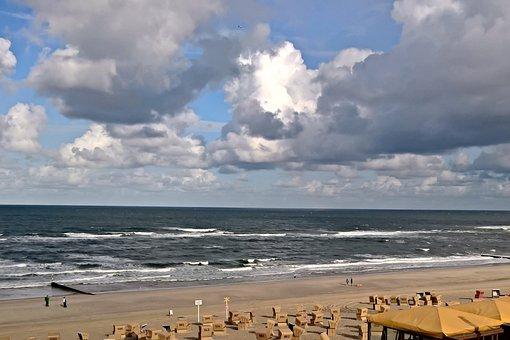 Sea, North Sea, Coast, Beach, Bank, Wave