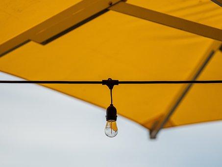 Yellow, Lamp, Light Bulb, Screen, Cable, Light