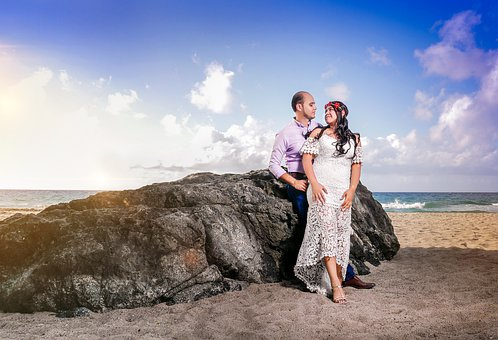 Beach, Couple, Sea, Ocean, Romantic, Romance, Sand