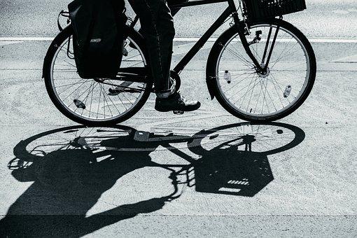 Bike, Shadow, Cycle Path, Cycling, Road, Silhouette