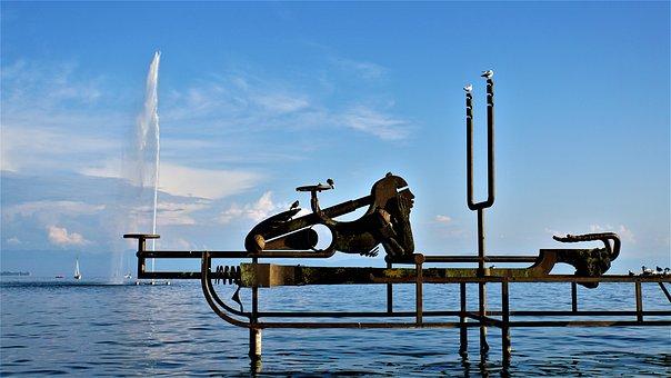 Sound Ship, Art, Friedrichshafen, Lake Constance, Birds