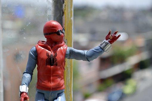 Man, Spider, Mask, Spiderman, Comics, Web, Garden