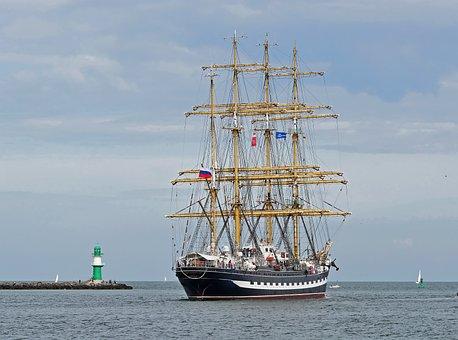 Tall Ship, Kruzenshtern, Russia, Four Master