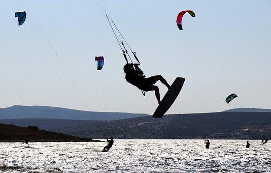 Kitesurfing, Alacati, Izmir, Turkey, Surf, Sky, Fly