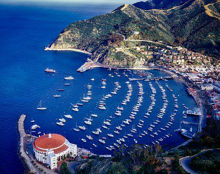Catalina Island, California, Casino, Aerial View
