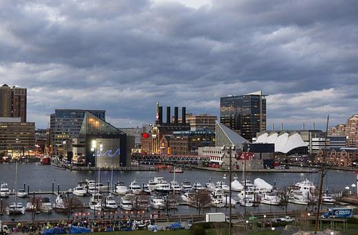 Baltimore, Night, Dusk, Tourism, Downtown, Inner Harbor