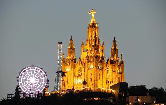 Barcelona, Catalonia, City, Tibidabo, Sightseeing