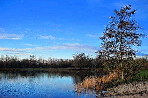 Beach, Lake, Stretch, Morning, Blue Sky, Mood, Ruhr