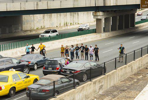 Protest, Highway, I83, Baltimore, Police, Arrest, Blm