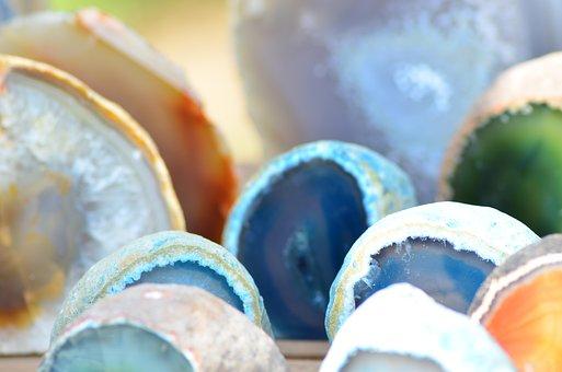 Agate, Stone, Summer, Violet, Blue, Decoration, Jewel