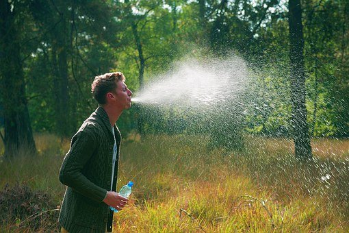 Water, Spit, Boy, Guy, Gay, Nature, Travel, Summer