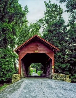 Bridge, Covered Bridge, Wooden, Architecture, Old