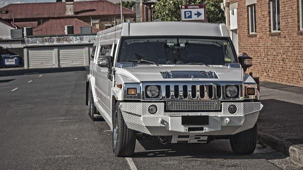 Hummer, Car, Stretch, Limo, Urban, Limousine