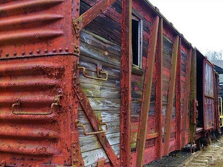 Railroad, Rail, Train, Car, Box, Tracks, Pennsylvania