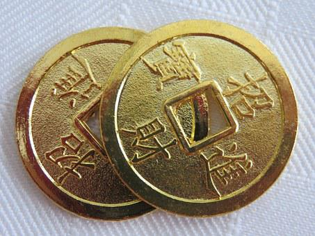 Luck, Coins, Lucky Coins, Chinese New Year, Fortune