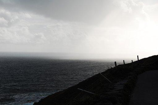 Rain, Ireland, Coast, Sea, Coastal, Landscape, Nature